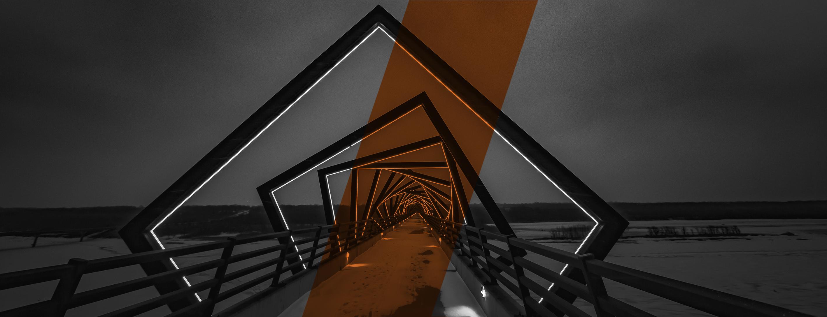 werbung digital, Brücke Installation