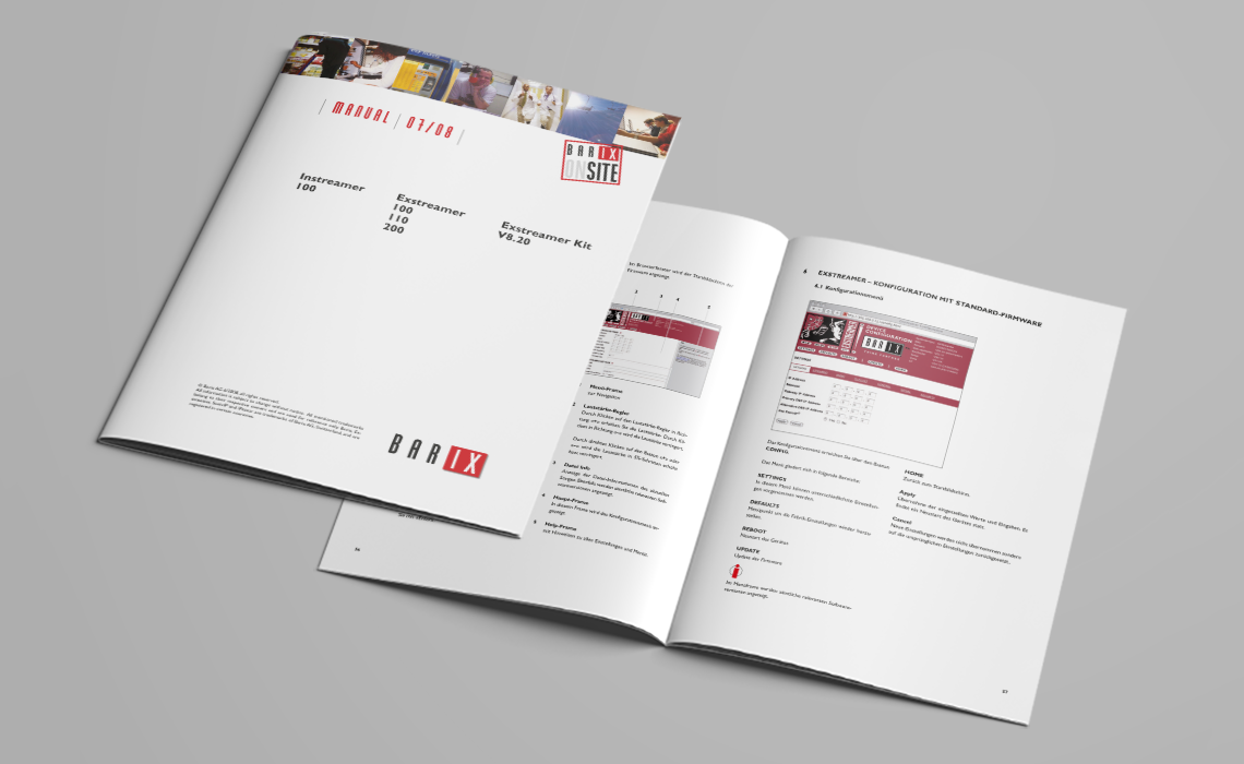 BARIX AG – Bedienungsanleitung für netzwerkfähige Audiowandler – 2008