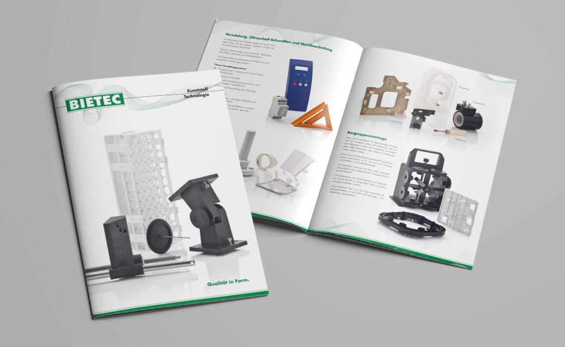 Bietec GmbH – Imagebroschüre – Werkzeugbau, Formenbau, Kunststoffspritzerei und Produktentwicklung. – 2012