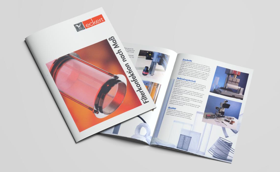 Franz Eckert GmbH – Produktübersicht Filterkonfektion nach Maß – 1998