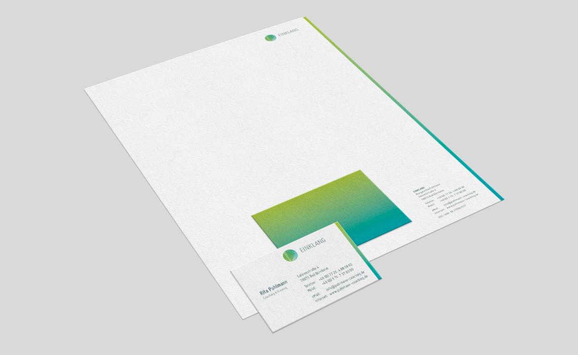 Einklang – Logo und Geschäftsausstattung – 2012
