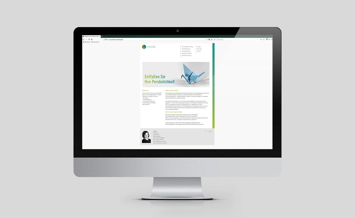 Einklang – Website – Entfalten Sie Ihre Persönlichkeit – 2012