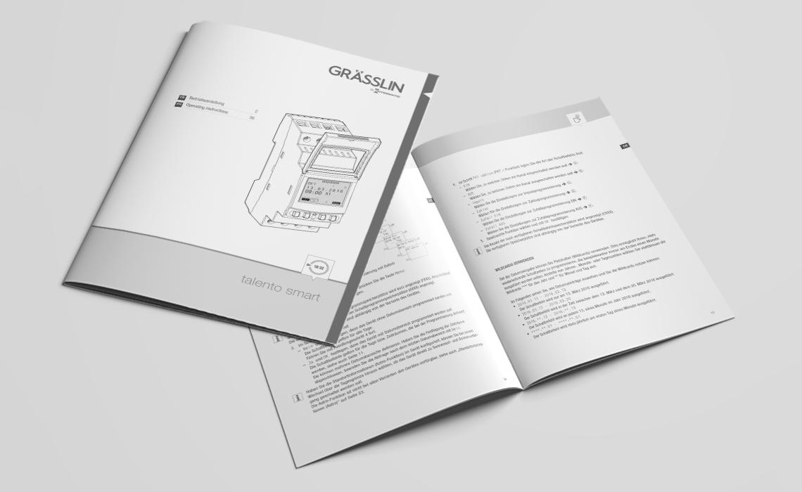 Projekte, Grässlin GmbH – Bedienungsanleitung Verteilerschaltuhr talento smart – 2016