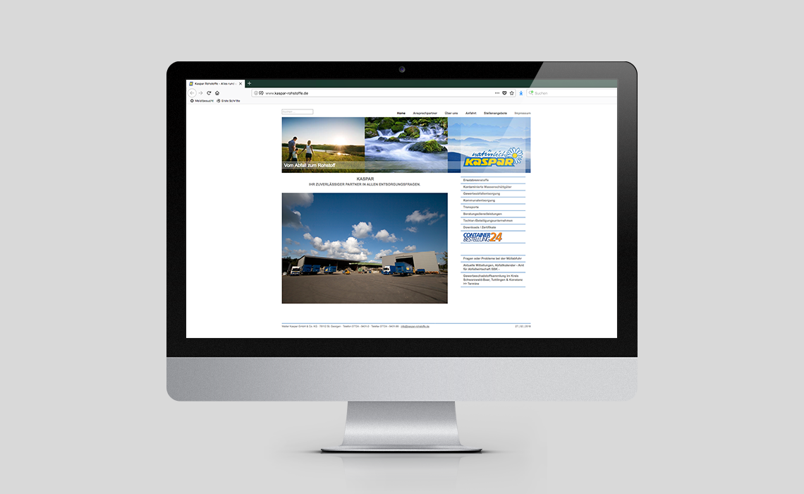 Walter Kaspar GmbH – Website – 2013