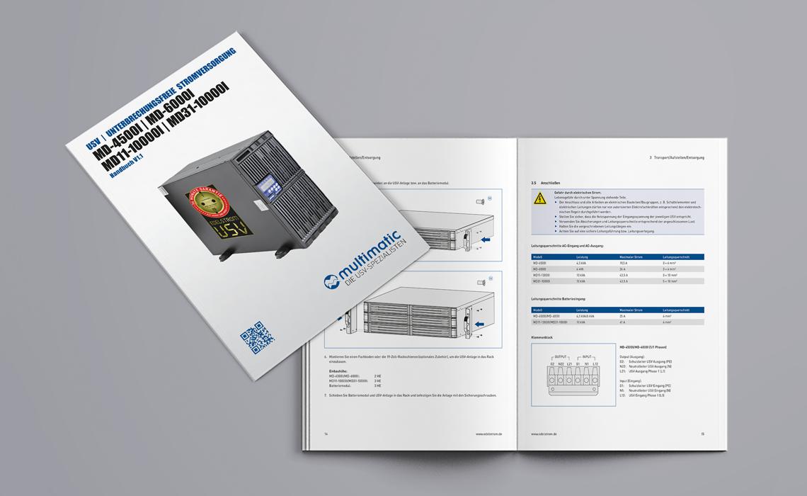 Projekte, multimatic EDELSTROM GmbH – Bedienungsanleitung MD Serie – 2015