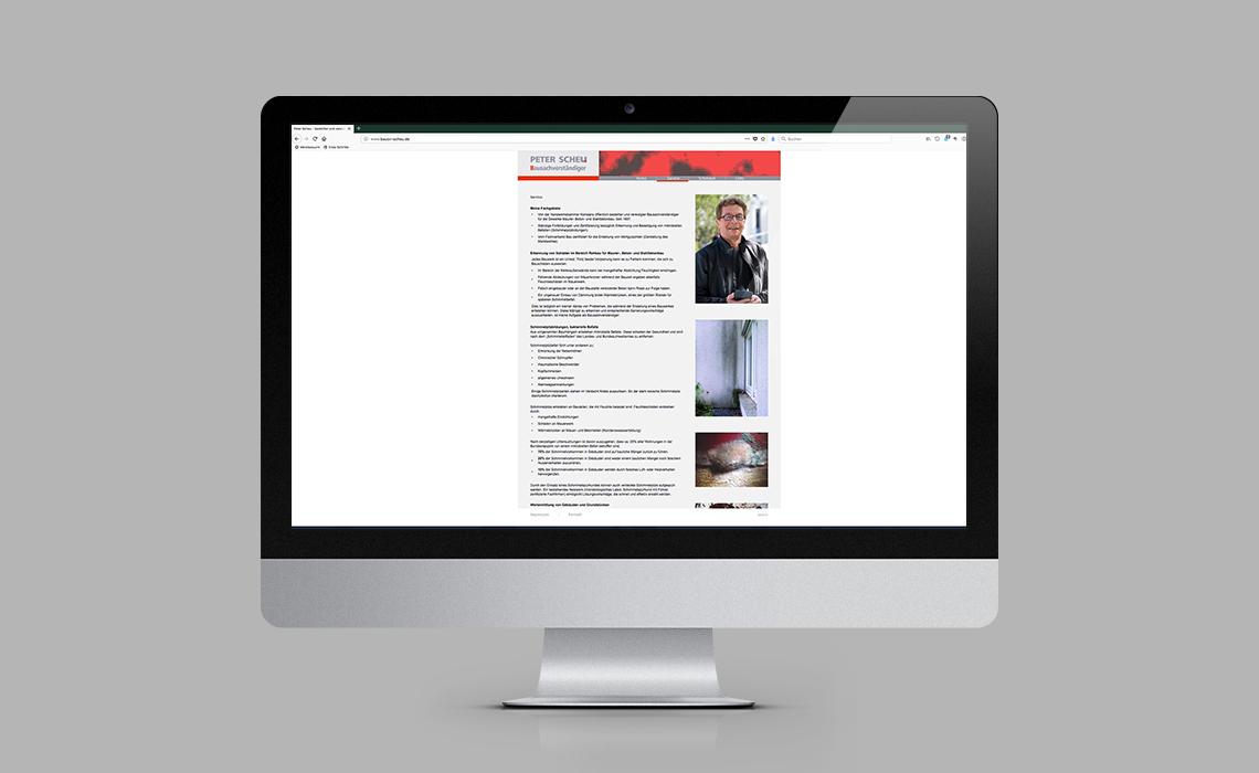 Peter Scheu, Bausachverständiger – Website – 2008