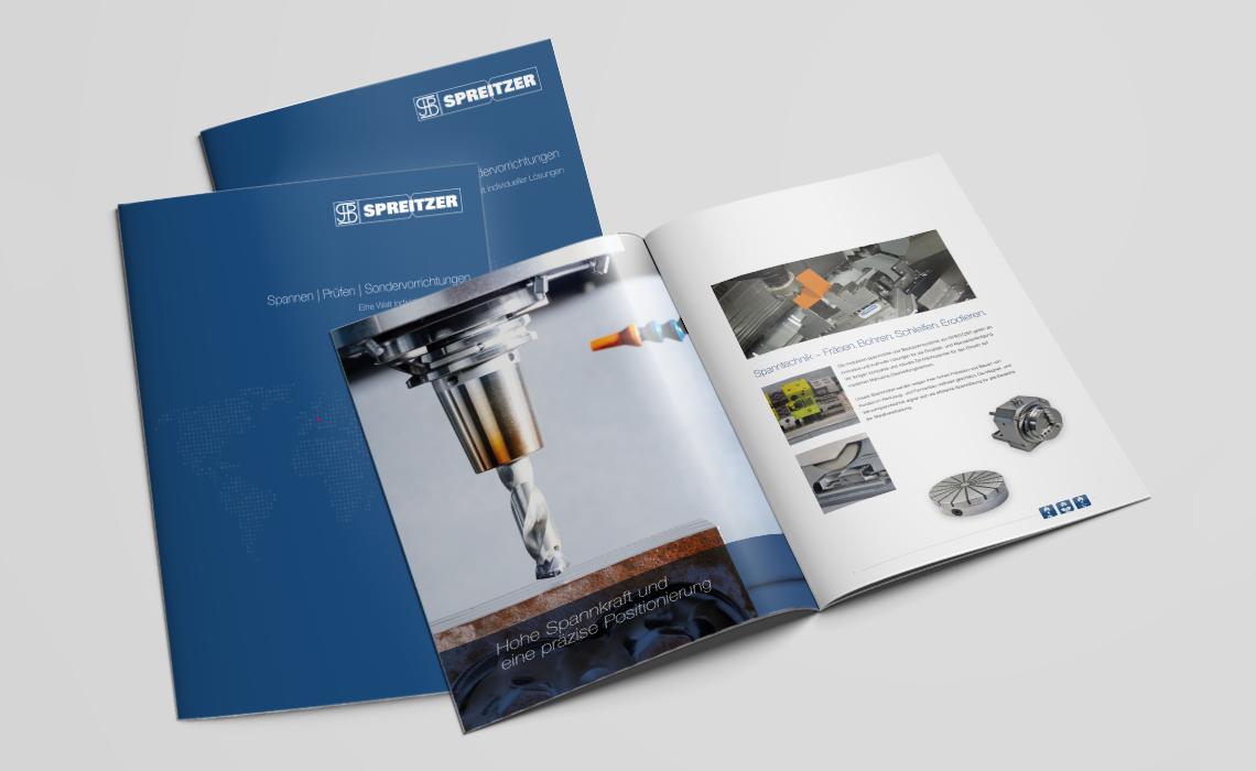 Projekte, Spreitzer GmbH – Imagebroschüre Spannen, Prüfen, Sondervorrichtungen – 2017