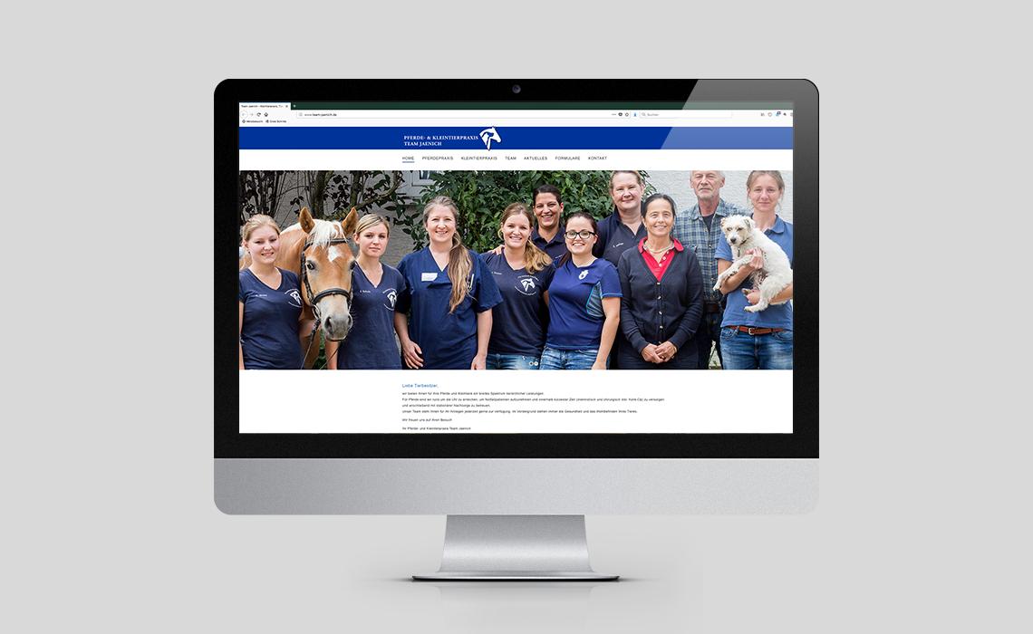 Projekte, Pferde- und Kleintierpraxis Team Jaenich – Website – 2017