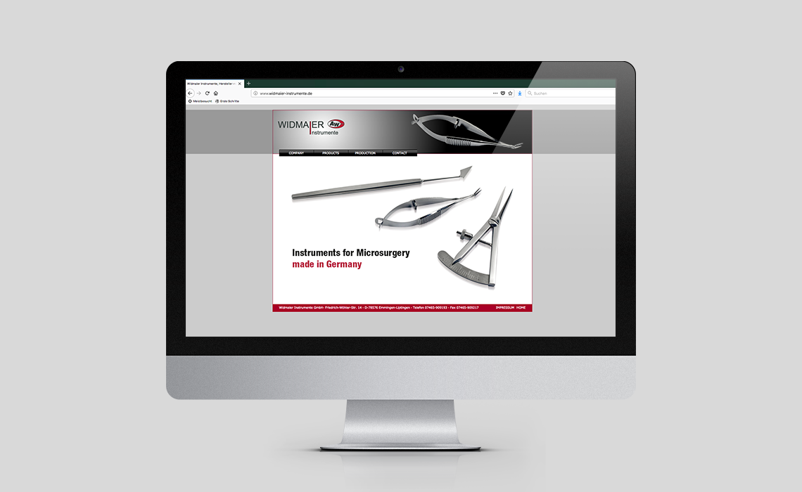 Projekte, Widmaier GmbH – Website – 2014